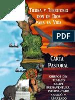Carta Abierta Pastoral Chocó 2010