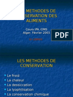 méthodes de Conservation GUITARNI