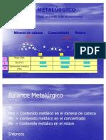 Clase 11 2010 Economia Minera -  Balance  Metalúrgico