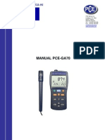Manual Medidor Gas Pce Ga70