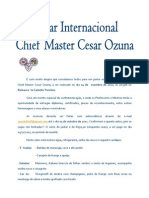 Carta Convite Jantar Internacional C.M. Ozuna