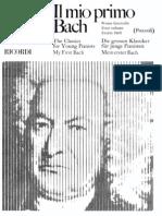 Pozzoli-Il Mio Primo Bach. Book 1 Piano