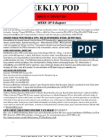 FRO WEEKLY PLAN OF THE DAY, THE WEEK OF 8 AUGUST 2011