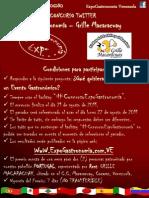 Concurso Twitter ExpoGastronomía Grille Macaracuay