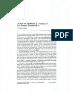 A Note on Durkheim's Creation of FEVR - Watts Miller