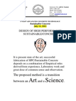 Design of HPC Sustainable Concrete What Went Wrong