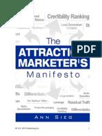 Attraction Marketers Manifesto