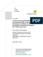 Currency Demand Modeling in Estimating the Underground Economy - VAR