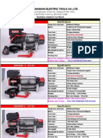 Electric Winch Offer-from Jinhua Tianshun 2011.7