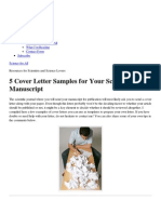 5 Cover Letter Samples for Your Scientific Manuscript