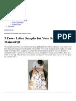 5 Cover Letter Samples for Your Scientific Manuscript