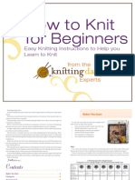 Beginning Knitting Final