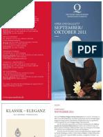 Programm der Deuschen Oper am Rhein für September und Oktober