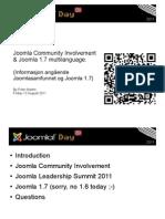 Joomla Community Involvement JDNorway2011