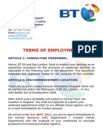 Terms of Employment BT Oil and Gas UK