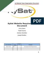 KySat Website Team Organization Document