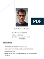 Curriculum Rafael Talaverón