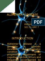 ALZHEIMER'S DISEASE ppt