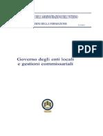 Governo Degli Enti Locali E Gestioni Commissariali - Breve Storia Dell'Amministrazione Degli Enti Nelle Due Sicilie