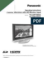PanasonicVieraTH-50PV500AUserGuide