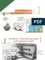 Thème 3 croissance développement durable  2011-2012