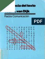 Teun a. Van Dijk-La Ciencia Del Texto