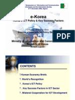 E-Korea - Korea ICT Policy and Key Success Factors