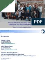 [PDF version - slides] - The 'qualification providing enterprise'