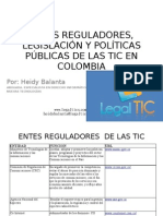 Entes Reguladores de Internet y Las Tic En