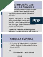 Determinação das formulas molecular e ionicas, compostos hidratados.