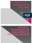 A Presentation in Foundations of Education