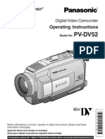 Panasonic PVDV52 Manual