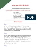 Anaesthesia and Atrial Fibrillation