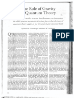 The Role of Gravity in Quantum Theory - Greenberger Over Ha User