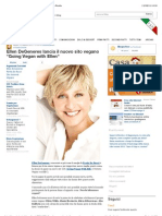 Ellen DeGeneres Lancia Il Nuovo Sito Vegano