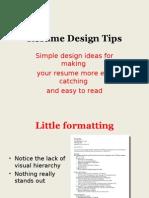 Resume Design Show