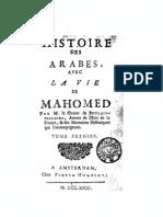 FR Boulainvilliers - Histoire Des Arabes, Avec La Vie de Mahomed, 1731