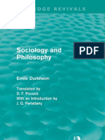 Emile Durkheim - Sociology and Philosophy