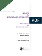 Mujeres y Depresion Summit-2002