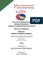 Plan Analítico del Módulo de Comercio Electrónico Ing. Javier Ulloa M.