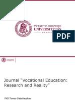 "[PowerPoint version - slides] - Journal ""Vocational Education"