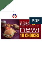 McDonalds McValue Lunch 1990'An