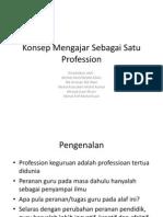 Konsep Mengajar Sebagai Satu Profession
