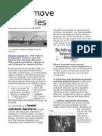BIB We Remove Obstacles 2 Pages  2011  Building International Bridges Brochure