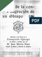 Ritual Consagracion Obispo 1944