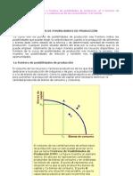 FRONTERA DE LA CURVA DE POSIBILIDADES DE PRODUCCIÓN