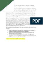 OWASP ASVS Presentation Abstract
