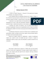 Reflexão de Cálculo Financeiro e Actuarial