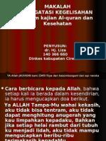 Kegelisahan  Menurut Islam Dan Kesehatan  (dr. Hj. Liza RSUD WALED CIREBON)