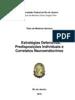 Dissertação - Estratégias Defensivas; Predisposições Individuais e Correlatos Neuroendócrinos